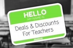 A Huge List of Teacher Deals For You! - Edudemic By Katie Lepi | Students with dyslexia & ADHD in independent and public schools | Scoop.it