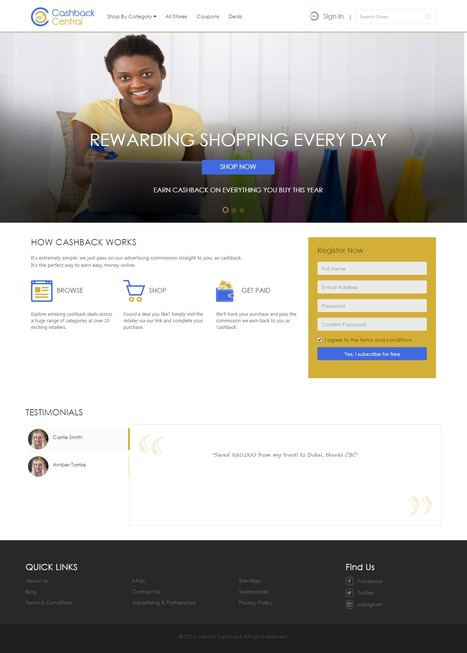 Cashback Central is Nigerian cashback project designed and developed by iLead Digital | Affiliate Website CMS Design and Development | Scoop.it