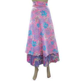 moguinterior Sari Wrapskirt Purple Pink Reversible Long Wrap Around Skirt Beach Wrap - Clothing - Women's - Skirts | Bohemian Harem Pant | Scoop.it