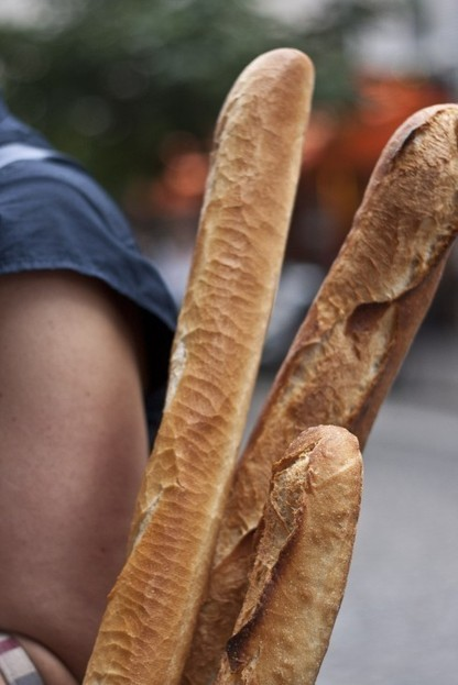 """Buying the perfect baguette"" 