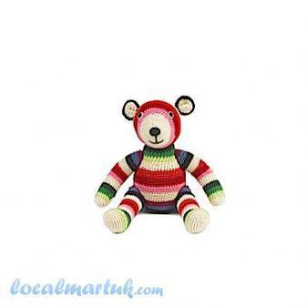 Anne-Claire Petit Crochet Rainbow Teddy - City of London | Cool Stuff For Kids | Scoop.it