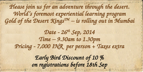"""Early bird- Enrol now for a learning experience like never before."" 