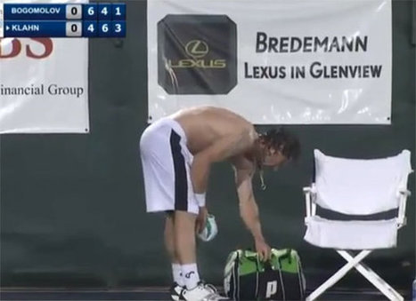 Tennis star storms off court in amazing tantrum after call from crowd | sports | Scoop.it