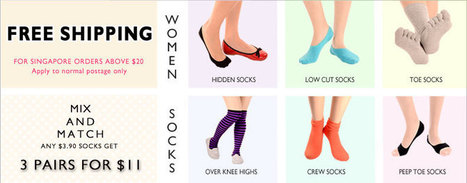 Women Socks Online | Buy Girls Socks in Singapore - Citrusox | citrusox | Scoop.it