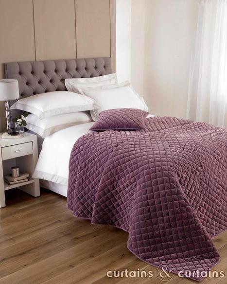 Cotton Velvet Quilted Plum Purple Bedspread   Smart Interior Design   Scoop.it