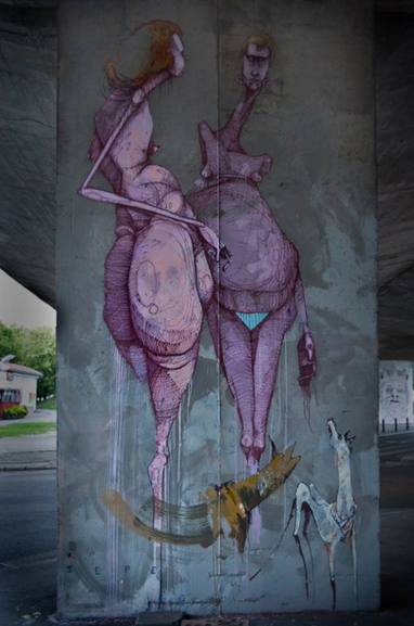 Street art by Sepe | Design daily news | 'THE ARTS' | Scoop.it