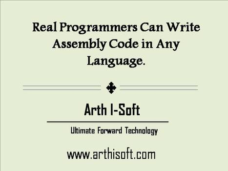 Real programmers‬ can write assembly code in any language. | iphone application development | Scoop.it