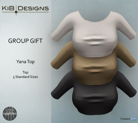 Yana Top Group Gift by KiB Designs | Teleport Hub - Second Life Freebies | Second Life Freebies | Scoop.it
