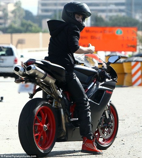 All revved up: Justin Bieber hits the road on his beloved Ducati motorbike   Dailymail.uk   Ductalk Ducati News   Scoop.it
