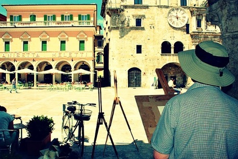 Ascoli Piceno: Painting in The Piazza | Le Marche another Italy | Scoop.it