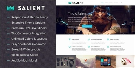 Salient WordPress Theme | MyThemeCafe | Website Premium Theme Directory | Scoop.it