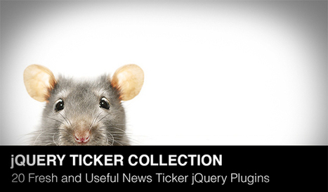 20 Fresh and Miscellaneous News Ticker jQuery Plugins of 2013 | Daily Design Notes | Scoop.it