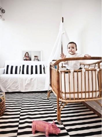Idées déco pour de jolies chambres d'enfant en Noir & Blanc | décoration & déco | Scoop.it