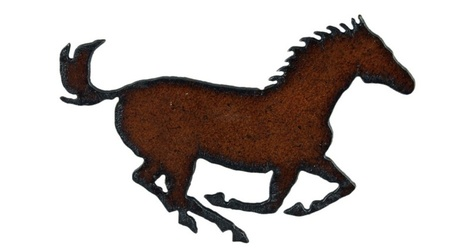 Rusted Rodeo Running Horse Magnet | Mexican Furniture & Decor | Scoop.it