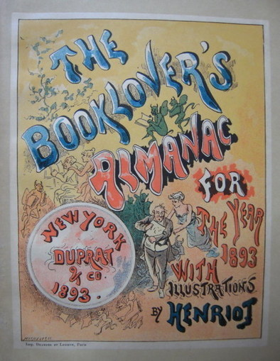 The Book-lover's Almanac for the year 1893 - The Bibliophile Guild | Antiquarian Books | Scoop.it