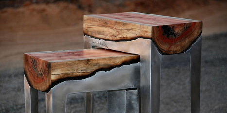 Wood And Metal Unite In Striking Furniture By Hilla Shamia | Geekeries & photography | Scoop.it