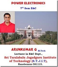 Power Electronics Arunkumar Notes For VTU EC   Arun Kumar Notes   Scoop.it