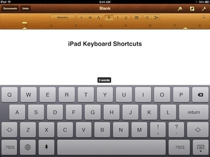 PadGadget's iPad Tips: Keyboard Shortcuts | PadGadget | Leadership Think Tank | Scoop.it