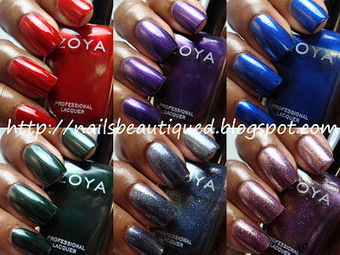 Nails Beautiqued: Zoya NYFW 2012 DIVA Metallic Collection Swatches and Review   Fall Nail Polish   Scoop.it
