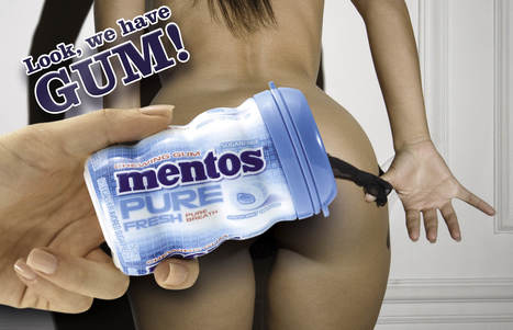 Mentos Are Great for Covering Up Your Naughty Bits | Adverts, Digital, Social, Marketing | Scoop.it
