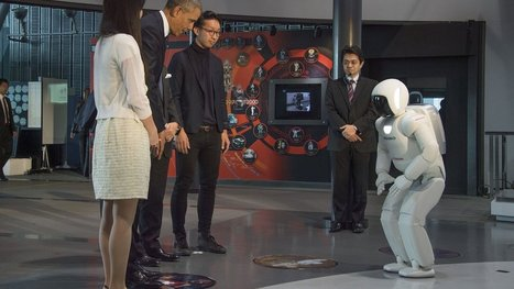President Obama plays soccer with a Japanese robot | Beautiful things to make | Scoop.it