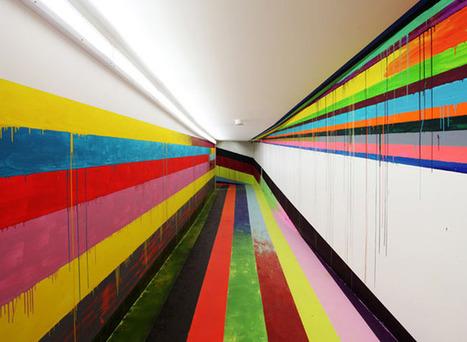Le tunnel des visiteurs de la prison JVA repeint par Markus Linnenbrink à Düsseldorf - Allemagne | arts graphiques | Scoop.it
