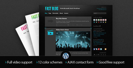Fast Blog v1.7.3 - Themeforest Premium Theme - Yocto Templates | YOCTO WordPress Themes & Plugins | Scoop.it
