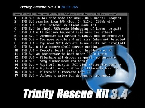 Trinity Rescue Kit   CPR for your computer   ICT Security Tools   Scoop.it