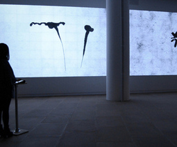 'Inkscapes' installation livestreams iPad drawings across a 120 foot display | Sitting on Two Stools | Scoop.it