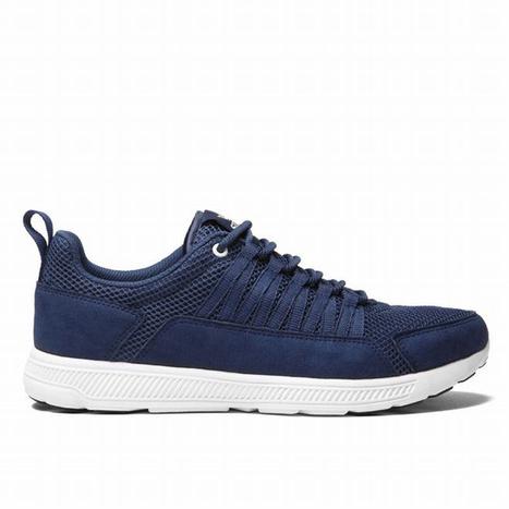 supra owen mesh shoes dark blue and white men skate shoes | share list | Scoop.it