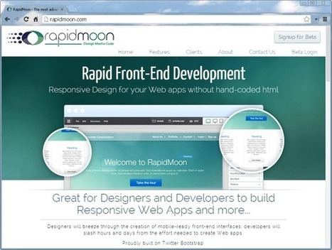 No HTML experience necessary to build responsive apps with RapidMoon - TechRepublic | Webdesign | Scoop.it