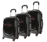 Lot de 3 valises-chariots 3 roues POLYESTER 600D - Rouge   comptoirdubagage   Scoop.it