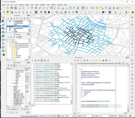 Traveltime routing & catchment extension for the QGIS IDF router | Everything is related to everything else | Scoop.it