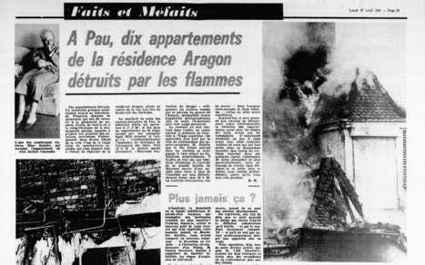 Dans nos archives : dix appartements ravagés lors d'un incendie à l'Aragon à Pau en 1981 | Au hasard | Scoop.it