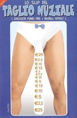 Slip taglio nuziale | I Migliori Scherzi e Gadget per Addii al Celibato e Nubilato | Scoop.it