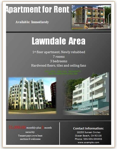 Rental Flyer | Microsoft Word Templates | About some templates | Scoop.it