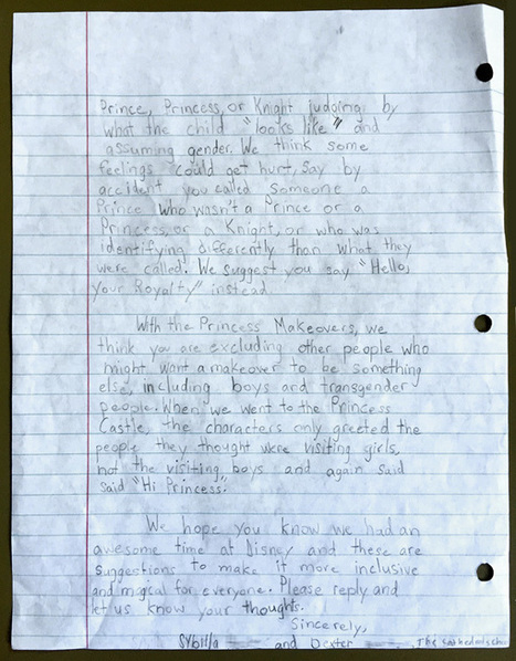 Two Nine-Year-Olds' Magnificent Open Letter to Disney About Racial and Gender Stereotypes | This Gives Me Hope | Scoop.it