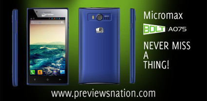 Micromax Bolt A075 Features, Specifications, Price in India | Latest Smartphones | Scoop.it