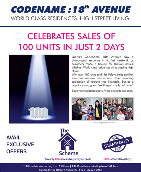 Celebrates Sales of 100 Units (Flats) In Just 2 Days | Rea Estate | Scoop.it