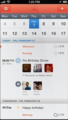 Sunrise, a Calendar that combines all your lives. | bestofsocialmedia | Scoop.it