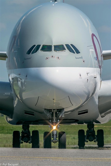 A Qatar Airways Airbus A380 in Paris | Aviation & Airliners | Scoop.it