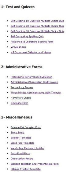 20 Google Forms for Teachers | Techonology | Scoop.it