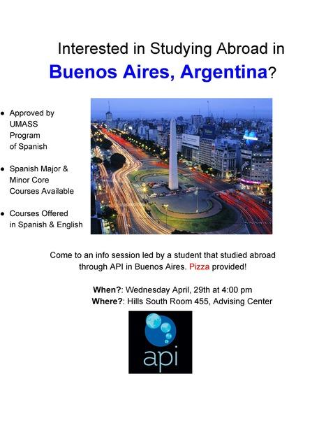 Buenos Aires Program Info Session | The UMass Amherst Spanish & Portuguese Program Newsletter | Scoop.it