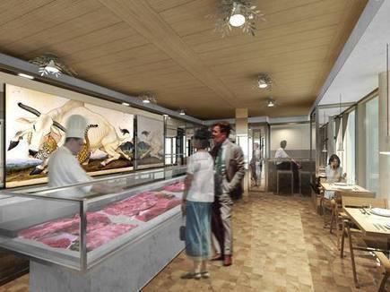 Dipinti, libri e «tagli»: De Lucchi reinventa la vecchia macelleria | eventi di architettura, interior design e..... | Scoop.it