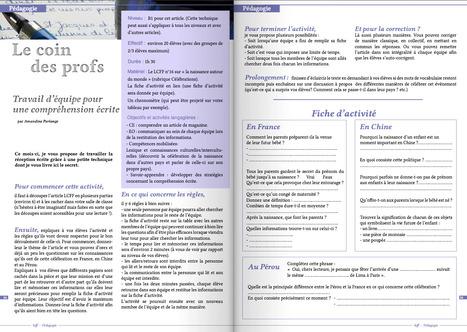 [ Rubrique Le coin des profs ] Véritable support pédagogique pour vos cours de fle | tableau blanc interactif | Scoop.it