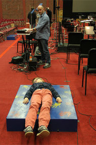 Lying on a sound box: deaf children listen to music | Family Learning | Scoop.it