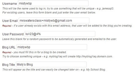 Creating student accounts using one email account | Edublogs Help and Support | Digital Technology in Education | Scoop.it
