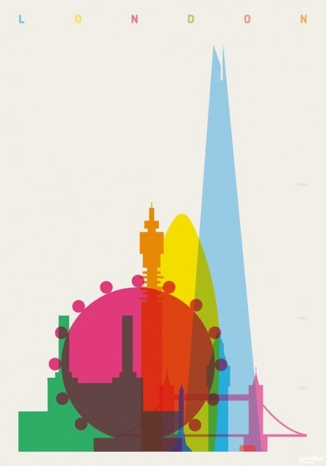 Shapes of Global Cities Defined by Colorful Silhouettes... | Art for art's sake... | Scoop.it