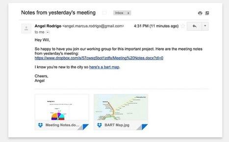 Dropbox s'intègre mieux à Gmail - Les Outils Google | Les outils du Web 2.0 | Scoop.it