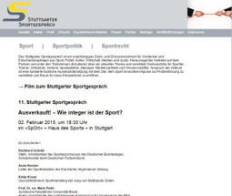 Stuttgarter Sportgespräch - Home | Dr. Marius Breucker | Scoop.it